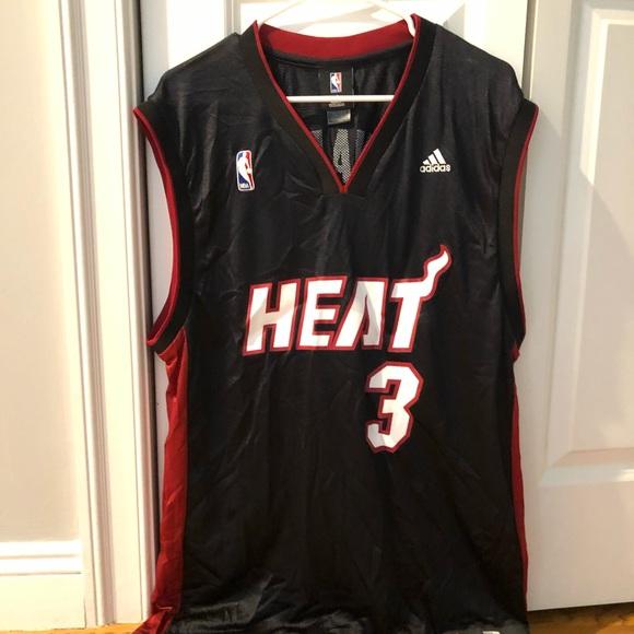 big sale c082e 91201 Men's Miami Heat Dwyane Wade Adidas Black Jersey